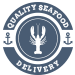 Quality Seafood Delivery Logo