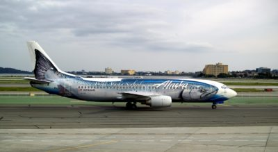 Alaska Airlines plane, buy salmon online with fast shipping