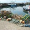 Lobster creels at port, live Maine lobster delivery