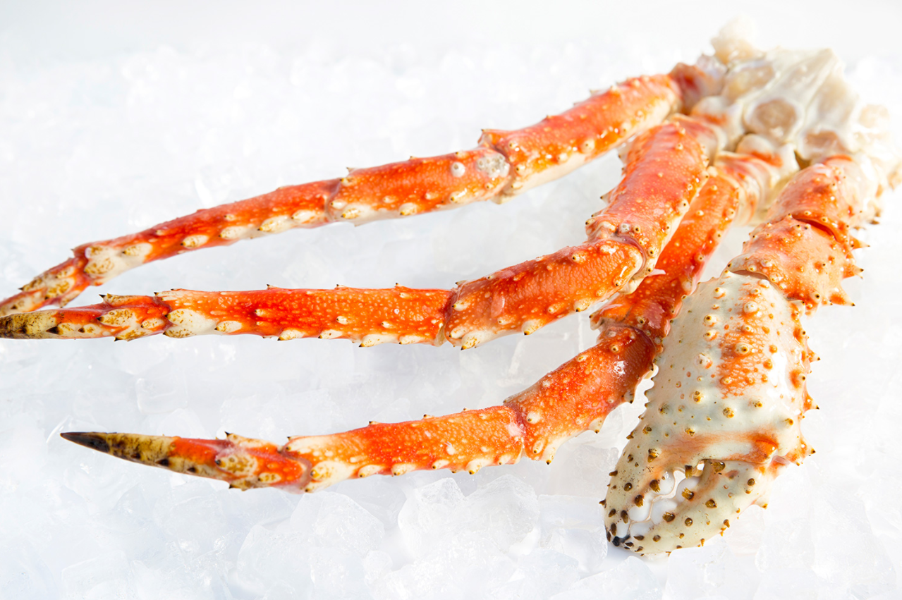 frozen king crab